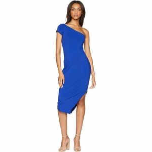 NWT Susana Monaco One Shoulder Slit Dress (size M)